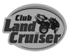 логотип Toyota Land Cruiser Club, черно-белый